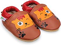 eea335328f5c8 Chaussons bébés et enfants en cuir souple pour garçons