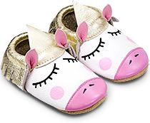 61b23502626bd Chaussons souples bébés - Chaussons cuir à franges pour enfants